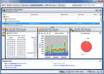 Функция NetFlow отображает наиболее используемые интерфейсы в режиме реального времени