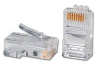 8-позиционные модульные вилки с 8-ю контактами