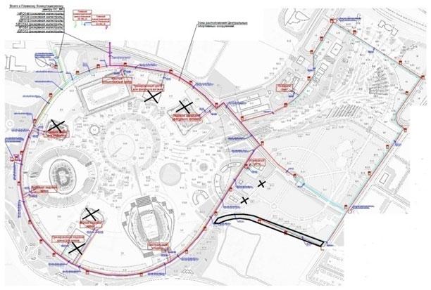 Схема соединения кабелямисвязи