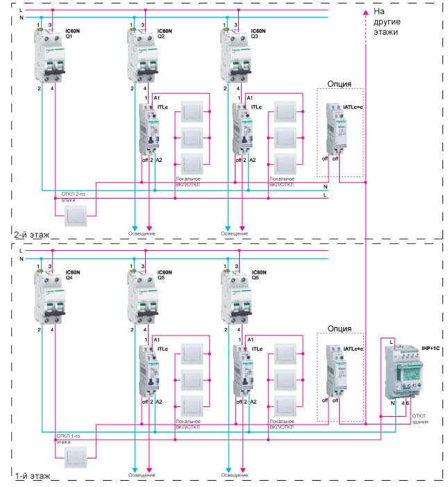Управление освещения здания с